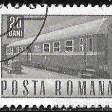 Sellos: RUMANIA 1967. TRANSPORTE Y COMUNICACIÓN. VAGÓN. TRENES. Lote 209771931