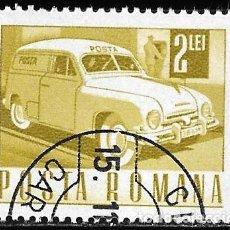 Sellos: RUMANIA 1967. TRANSPORTE Y COMUNICACIÓN. COCHE POSTAL.. Lote 209772075