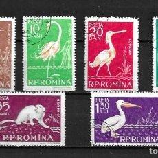 Sellos: RUMANÍA,1957,FAUNA,YVERT 1552-1557,USADOS,COMPLETA. Lote 209941720