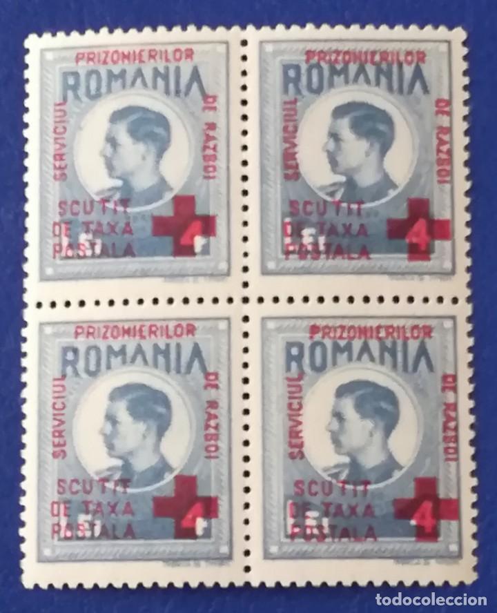 SELLO BLOQUE CONMEMORATIVO PRISIONERO DE GUERRA, CRUZ ROJA.RUMANIA (Sellos - Extranjero - Europa - Rumanía)