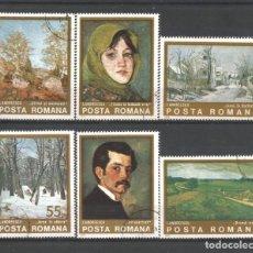 Sellos: RUMANÍA AÑO 1975 SERIE DE SELLOS Nº 2884/2889 USADA CATÁLOGO YVERT TEMA PINTURA.. Lote 214950050