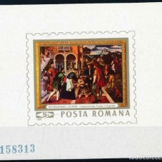 Sellos: RUMANIA 1969 HB IVERT 75 *** CUADRO DE BERNARDINO DE LICINIO - PINTURA. Lote 215721791