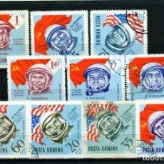 Sellos: ++ RUMANIA / ROMANIA / ROEMENIE AÑO 1964 C.A. YVERT NR.189/98 USADO COSMOS. Lote 217490216