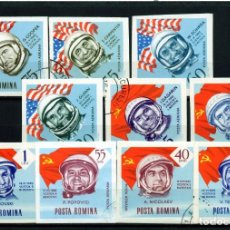 Sellos: ++ RUMANIA / ROMANIA / ROEMENIE AÑO 1964 C.A. YVERT NR.199/208 SIN DENTAR USADO COSMOS. Lote 217490298