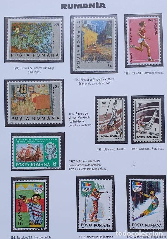 RUMANIA 10 SELLOS 1990-92 PINTURA, COLON, DEPORTES (Sellos - Extranjero - Europa - Rumanía)