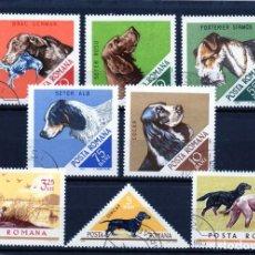 Sellos: ++ RUMANIA / ROMANIA / ROUMANIE AÑO 1965 YVERT NR. 2185/92 USADA PERROS. Lote 218534243