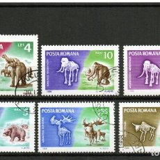 Sellos: ++ RUMANIA / ROMANIA / ROUMANIE AÑO 1966 YVERT NR. 2267/72 USADA ANIMALES PREHISTÓRICOS. Lote 218738262