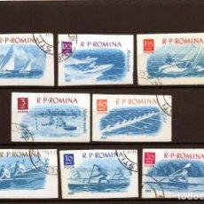 Sellos: ++ RUMANIA / ROMANIA / ROUMANIE AÑO 1962 YVERT NR. 1842/49 SIN DENTAR DEPORTES NÁUTICOS. Lote 218739130