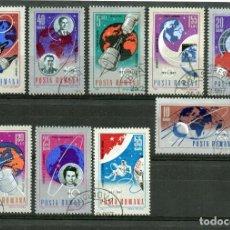 Sellos: ++ RUMANIA / ROMANIA / ROUMANIE AÑO 1967 YVERT NR.2273/77 Y 210/13 USADA COSMOS. Lote 220743770