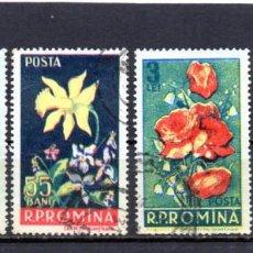 Sellos: ++ RUMANIA / ROMANIA / ROUMANIE AÑO 1956 YVERT NR. 1469/72 USADA FLORES. Lote 220746562