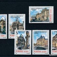 Sellos: RUMANIA 2003 IVERT 4798/803 *** MONUMENTOS DE BUCAREST. Lote 220869733