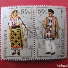 Timbres: +RUMANIA, 1985, TRAJES REGIONALES, YVERT 3611/12. Lote 223693368