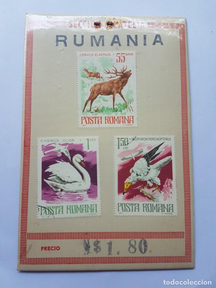 POSTA ROMANA, CERVUS ELAPHUS, CYGNUS OLOR, NEOPHRON PERCNOPTERUS, 3 STAMPS (Sellos - Extranjero - Europa - Rumanía)
