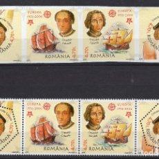 Sellos: RUMANIA, 2005, MICHEL5974-5977 A+B. Lote 231448070