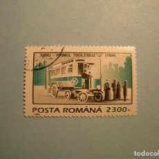 Sellos: RUMANIA - COCHES - TROLEBUS - SIBIU PRIMUL 1904.. Lote 236689710