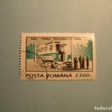 Sellos: RUMANIA - COCHES - TRANSPORTES - TROLEBUS - SIBIU PRIMUL 1904.. Lote 236689740