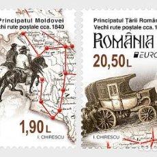 Selos: ROMANIA 2020 - EUROPA 2020 - ANCIENT POSTAL ROUTES STAMP SET MNH. Lote 238689805