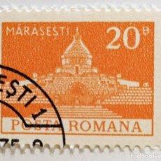 Sellos: SELLO DE RUMANIA 20 B -. 1973 - MONUMENTOS MARASESTI - USADO SIN SEÑAL DE FIJASELLOS. Lote 243800500