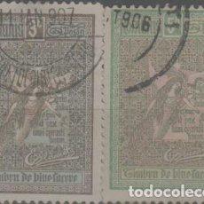 Sellos: LOTE U-SELLOS RUMANIA 1905-1906. Lote 245016860
