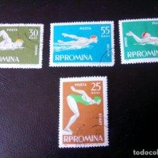 Sellos: RUMANIA 1963, DEPORTES ACUATICOS. Lote 248696610