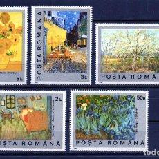 Francobolli: @ RUMANIA / ROMANIA / ROEMENIE AÑO 1990 YVERT NR. 3916/20 NUEVO PINTURAS VAN GOGH. Lote 251728135