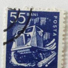 Sellos: SELLO DE RUMANIA 55 B - 1960 - TRACTOR MADERERO - USADO SIN SEÑAL DE FIJASELLOS. Lote 254154220