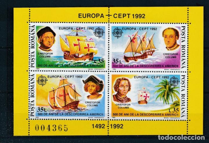 RUMANIA 1992 HB IVERT 220 *** EUROPA - 500º ANIVERSARIO DEL DESCUBRIMIENTO DE AMÉRICA - BARCOS (Sellos - Extranjero - Europa - Rumanía)