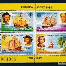 Sellos: RUMANIA 1992 HB IVERT 220 *** EUROPA - 500º ANIVERSARIO DEL DESCUBRIMIENTO DE AMÉRICA - BARCOS. Lote 263719375