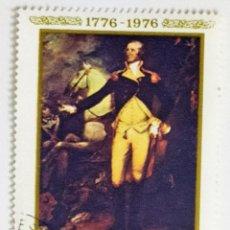 Sellos: SELLO DE RUMANIA 40 B - 1976 - WASHINGTON - USADO SIN SEÑAL DE FIJASELLOS. Lote 268026619
