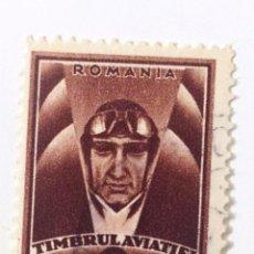 Sellos: SELLO DE RUMANIA 1 L - 1932 - AVIADOR - USADO SIN SEÑAL DE FIJASELLOS. Lote 269962128