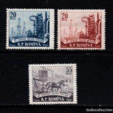 Sellos: RUMANIA 1541/43** - AÑO 1957 - CENTENARIO DE LA INDUSTRIA PETROLERA. Lote 270645138