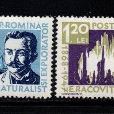 Sellos: RUMANIA 1590/91** - AÑO 1958 - 90º ANIVERSARIO DEL NACIMIENTO DEL NATURALISTA EMILE RACOVITA. Lote 270645518
