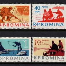 Sellos: RUMANIA 1863/70** - AÑO 1962 - PESCA DEPORTIVA. Lote 270647483