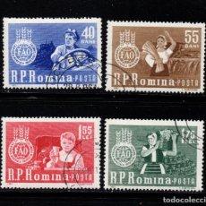 Sellos: RUMANIA 1897/900 - AÑO 1963 - CAMPAÑA MUNDIAL CONTRA EL HAMBRE. Lote 270647808