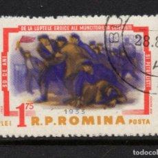 Sellos: RUMANIA 1901 - AÑO 1963 - 30º ANIVERSARIO DE LA HUELGA FERROVIARIA Y DEL PETROLEO. Lote 270647893