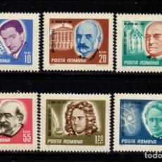 Sellos: RUMANIA 2317/22** - AÑO 1967 - ANIVERSARIOS CULTURALES. Lote 270648308