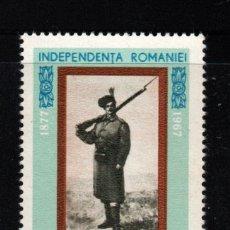 Sellos: RUMANIA 2301** - AÑO 1967 - 90º ANIVERSARIO DE LA INDEPENDENCIA. Lote 276385023