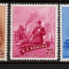 Sellos: RUMANIA 1592/94** - AÑO 1958 - DIA DE LAS FUERZAS ARMADAS. Lote 276727653