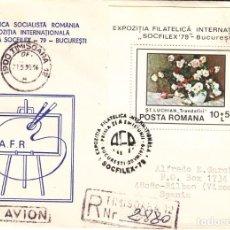 Sellos: CORREO AEREO: RUMANIA 1990. Lote 277049093