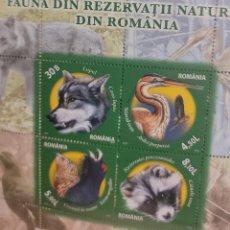 Sellos: O) 2011 ROMANIA, LOBOS, AVES, RESEVA NATURAL, NUEVO. Lote 277103668