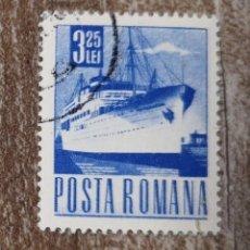 Sellos: SELLO USADO RUMANÍA, 1967-1968, TRANSPORTES COMUNICACIONES, BARCO. Lote 278286068