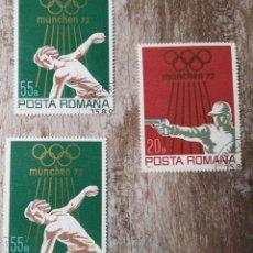 Sellos: 2 SELLOS USADOS RUMANÍA- 1972 - OLIMPIADA MUNICH. Lote 278286938