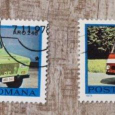 Sellos: 2 SELLO USADO RUMANIA 1975.COCHES ANTIGUOS.. Lote 278289253