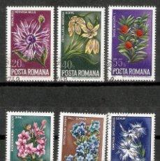 Sellos: RUMANIA. 1974. YT 2863/68. FLORES. FLORA. Lote 295783553