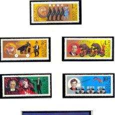 Briefmarken - RUSIA 1989 70 ANIVERSARIO DEL CIRCO SOVIETICO Yvert 5660/64 + BLOCK 208 - 13367825