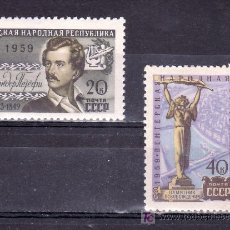 Sellos: RUSIA 2239/40 CON CHARNELA, EN HONOR DE LA REPUBLICA POPULAR DE HUNGRIA, . Lote 19391246