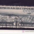 Sellos: RUSIA A 23 USADA, DIRIGIBLE SOBREVOLANDO DNIEPROZERJINSK. Lote 19428080