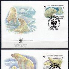 Sellos: RUSIA UNIÓN SOVIÉTICA 1987 YV 5391/94 4 SPD - WWF - PROTECCIÓN DE LA FAUNA - OSOS POLARES (FOTOS). Lote 27465424