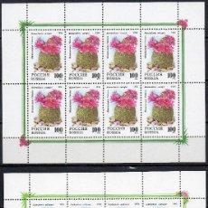 Sellos: RUSIA AÑO 1994 YV 6053/54*** 2 HB MP - CÁCTUS - FLORES - FLORA - NATURALEZA. Lote 27433479