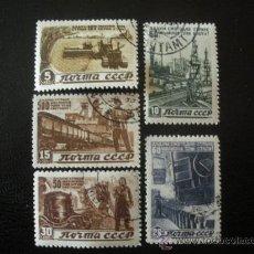 Selos: RUSIA 1946 IVERT 1067/71 NUEVO PLAN QUINCENAL STALINE DE RECONSTRUCCIÓN. Lote 27917871